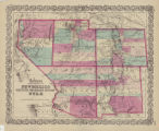 Map of the territories of New Mexico, Arizona, Colorado, Nevada, and Utah, 1855