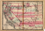 Map of California and Territories of New Mexico and Utah, 1862