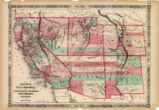 Map of California, Utah, Nevada,...