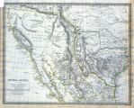 Map of Texas, California, New Mexico and the northern states of Mexico, October 15, 1842