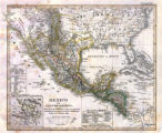 Map of Mexico and Central America, 1828