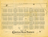 Map of Clark's Las Vegas Townsite, Lincoln County, Nevada, May 10, 1905