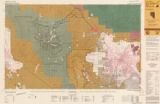 Map of Las Vegas, Nevada and surrounding Bureau of Land Management areas to the west and north,...