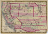 Map of California and territories of New Mexico and Utah, circa 1861