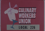 Glass slides of the Culinary Workers Union Local 226 offices and various local buildings, Las...