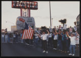 Photographs of Frontier Strike: second arrest, Culinary Union, Las Vegas (Nev.), 1991 September 28...