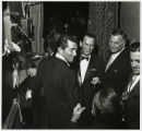 Photograph of Frank Sinatra, Dean Martin, and Jack Entratter backstage, Las Vegas, early 1960s