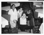 Photograph of Dean Martin and others during rehearsal at the Sands Hotel, Las Vegas, December 1959