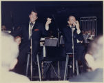 Photograph of Dean Martin and Frank Sinatra performing in the Copa Room, Las Vegas, January 22,...