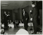 Photograph of Sammy Davis Jr., Dean Martin, and Frank Sinatra in the Copa  Room, Las Vegas, early...