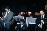 Slide transparency of Dean Martin, Sammy Davis, Jr. and Frank Sinatra at the Copa Room in the...