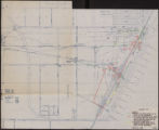 Map of water pipelines to be sold to the Las Vegas Valley Water District, March 1, 1953.