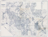 Map showing areas of bedrock and valley fill, drainage boundary, areas of artesian flow, and...