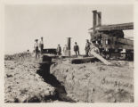 Photograph of first artesian well in Las Vegas Valley on Taylor Ranch, Clark County, before 1910