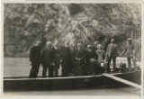 Photograph of a congressional delegation visiting the Hoover Dam site, March 13, 1923