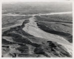 Aerial photograph of the flood path down Eldorado Canyon to Nelson's Landing, circa September, 1974