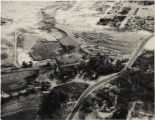 Aerial photograph of Cashman Field and remains of the Mormon Fort, 1960