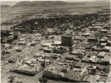 Aerial photograph of downtown Las Vegas, after 1956