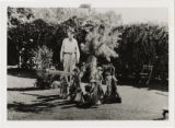 Photograph of  J. T. Williams in the back yard of his home in Las Vegas, September 30, 1934