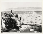 Photograph of a butane powered pump engine on the T & T Ranch, Nevada, circa 1958