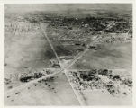 Aerial photograph of Las Vegas looking west, 1945