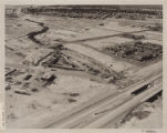 Aerial photograph of North Las Vegas flood control channel under I-15 and Civic Center Drive, June...