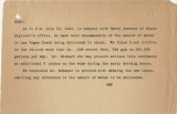 Memo from Al Folger about water flow to the Las Vegas Ranch, July 12, 1943