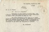Letter from William Reinhardt (Los Angeles) to A. M. Folger, August 18, 1949