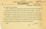 Telegram from William Reinhardt (Los Angeles) to A. E. Stoddard (Omaha), October 16, 1952