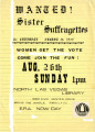 National Organization for Women flier, late 1970s