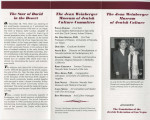 Jean Weinberger Museum of Jewish Culture pamphlet, 1996