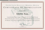 Awards and certificates for Edythe Katz, 1968-2001