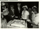Photograph of cake cutting for...