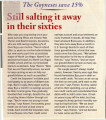 Magazine clipping, Still salting it away in their sixties, Money Magazine, December 19, 1995