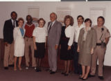 Photograph of Roosevelt Toston with the Las Vegas Convention and Visitors' Authority, 1990
