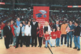 Photograph of UNLV Basketball Alumni Association honoring Lonnie Wright, 1990