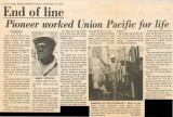 Newspaper article, Pioneer worked Union Pacific for life, Las Vegas Review-Journal, September 23,...