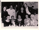 Photograph of Anna Bailey and other entertainers at the Moulin Rouge, 1955