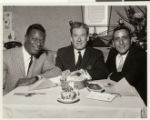 Photographs of Nat King Cole off stage at the Sands Hotel