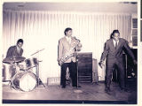 Photograph of a performance of the Good Rocking Brown and Group in the El Morocco Club showroom,...
