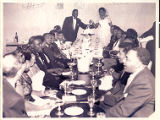 Photograph of Q. B. and Elouise Bush's wedding reception at the New Town Tavern, 1957