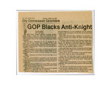 Newspaper clipping, GOP Blacks Anti-Knight, Las Vegas Sun, January 23, 1979