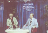 "Photograph of Donn Arden appearing on ""The Frank Rosenthal Show,"" circa 1977"