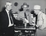 Photograph of Charles F. Peterson and others, Boulder City, Nevada, 1948