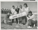 Photograph of Valda Boyne Esau with others at the opening of Stardust Golf Course, Las Vegas, 1961