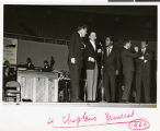 "The ""Rat Pack"" performing at the Four Chaplains Memorial, Las Vegas, Nevada, February 7,..."