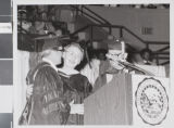 Photograph of commencement for the University of Nevada, Las Vegas, 1979