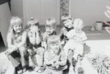 Film transparency of Elbert Edwards' grandchildren, 1976
