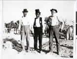 Photograph of three men, including Chief Tecopa, Pahrump Valley, Nevada, circa 1880s-1890s