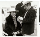 Photograph of Judy Bayley and Senator Howard Cannon at one of the trailrides, Las Vegas, Nevada,...